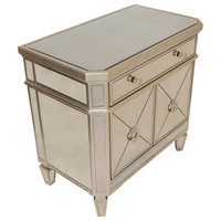 Borghese Mirrored Bedroom Nightstand