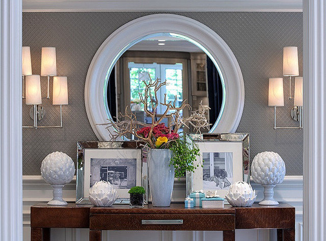 Eclectic  Grey & White Entry