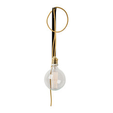 Sisauu Wall Light, Black Bracket, Gold Textile Cable