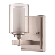Craftmade Celeste 1-Light Wall Sconce, Brushed Polished Nickel