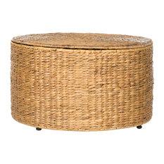 Safavieh   Jesse Wicker Storage Coffe Table, Natural   Coffee Tables