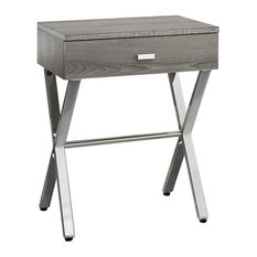 Pemberly Row Accent Nightstand In Dark Taupe