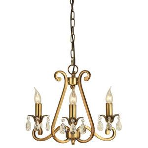 Oksana Antique Brass 3-Light Pendant, 40 W