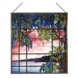 Tiffany Tree Of Life Stained Glass Panel Traditional