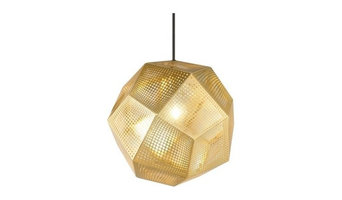Etch Shade Brass Pendant Lamp by Tom Dixon