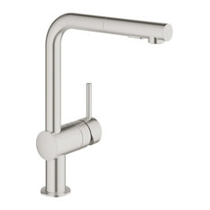 Grohe 30 300 Minta Pull-Out Spray Kitchen Faucet - Silver