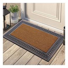 """Rubber And Coir, 24""""x39"""" Heavy Duty Outdoor Doormat, Bronze"""