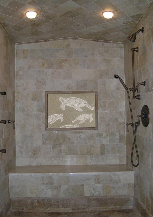 "Bathroom & Spa Bath Specialty Stone Tile:  ""Sea Turtle"""