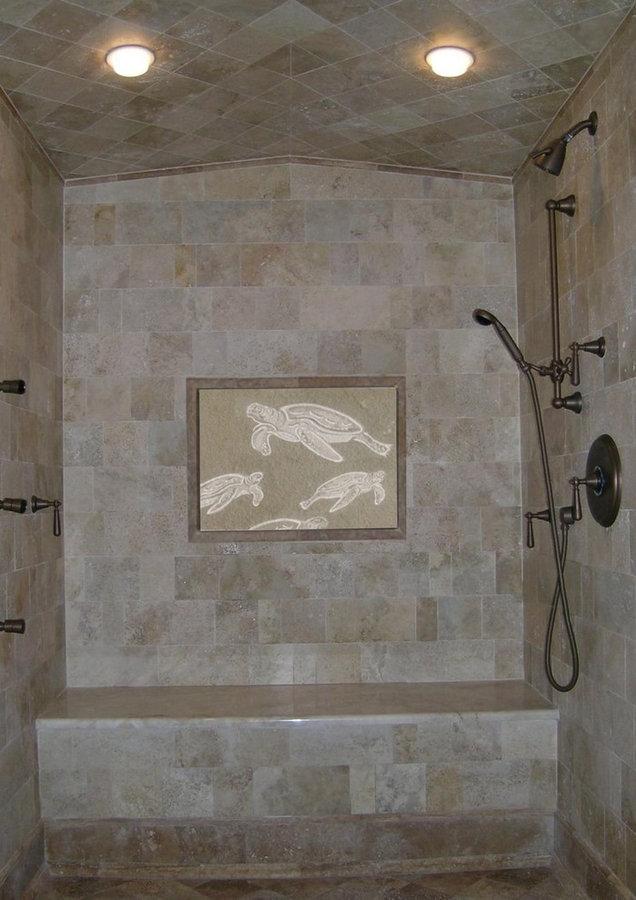 "Bathroom & Spa Bath Specialty Stone Tile:  ""Sea Turtle"""