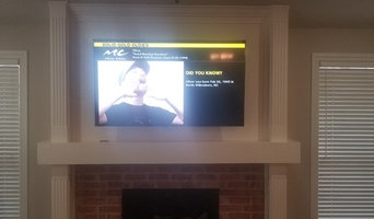 "Above Fireplace 65"" LCD TV"