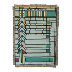 Frank Lloyd Wright Darwin Martin Pier Cluster Window Throw