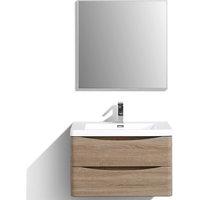 "Eviva Smile 30"" White Oak Vanity With Acrylic Sink"