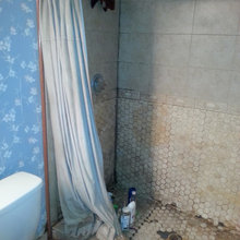 Before and After  Bathroom Shower Remodel