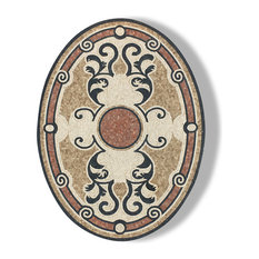 "Mosaic Oval Honed Floor Medallions Tile Medallion Marble Inlay 36""x48"""