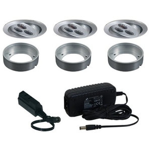 3 Piece Puck Light Kit With Hard Wired Transformer ...