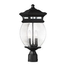 Seven Oaks 2-Light Post Lantern, Black