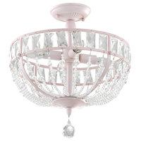 Audrey Pink Crystal Chandelier, 4-Lights