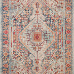 """Loloi II - Blue/Fiesta Nour Rug, 7'9""""x10'6"""" - A modern foundation for any room. Thanks to a 100% polypropylene pile, the Nour rug doesn't shed and will remain colorfast and stain-resistant in even your busiest space. Plus, the patterns are artfully distressed for a lived-in feel, ensuring added character from the moment its unrolled. Power-loomed in Turkey. Product Care: Clean spills immediately by blotting with a clean sponge or cloth. Appropriate rug pad is highly recommended on all surfaces to prevent slipping, add cushion, and improve durability. For vacuuming, use a vacuum cleaner without a beater bar or one where you can set the bar to the highest pile setting. If your vacuum has variable power settings, set on low. Vacuum full length of the rug."""