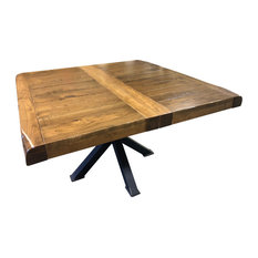 Bennet 48-inchx48-inch Table 1 Leaf Rustic Cherry Wood Extendable Dining Table
