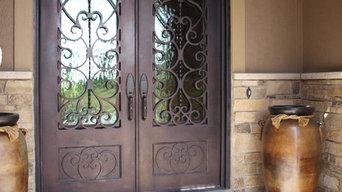 3/4 Lite Arch Top Double Door