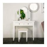 White Dressing Table Set - Daventry White Range