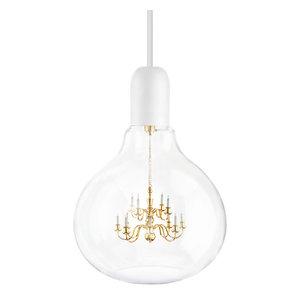 Large King Edison Pendant Lamp, White