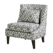 Madison Park Waverly Swoop Arm Chair, Gray