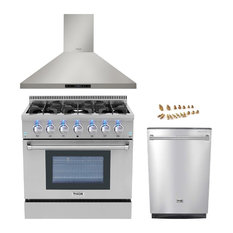 "36"" Gas Range Thor Kitchen 3-piece Bundle, Propane Gas"