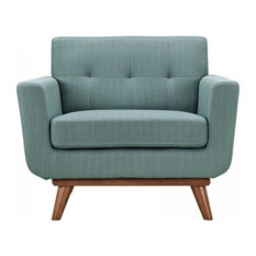 LexMod - Engage Upholstered Fabric Armchair, Laguna - Armchairs and Accent Chairs