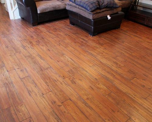Warm Brandy Distressed Laminate Floor