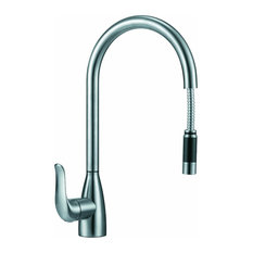 "BOANN Chloe 16.7"" 304 Stainless Steel Pull- Out Kitchen Faucet"