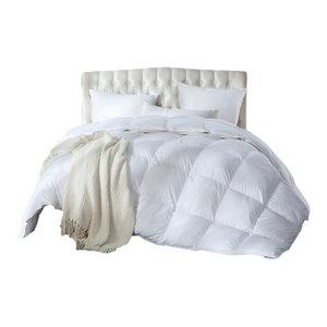Luxurious Siberian Goose Down Comforter Duvet 750+ Fill, 1200 TC Egyptian Cotton