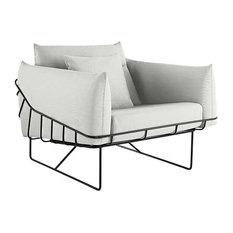 Wireframe Chair by Herman Miller, Black, Color, Fog