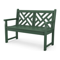 """Polywood Chippendale 48"""" Bench, Green"""