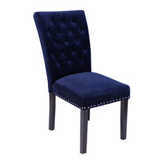 Monsoon Pacific   Markelo Velvet Dining Chairs, Set Of 2, Ink Navy   Dining