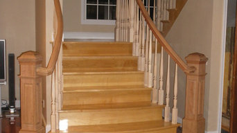 Brazilian Cherry / Maple Double Open Flared Stair