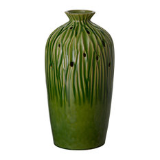 Sequoia Tall Vase, Olive Green