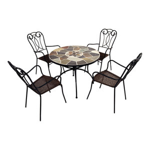 Pomino Patio Table With Verona Chairs, 5-Piece Set