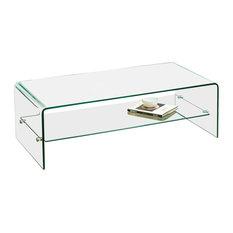 GDF Studio Charlize Glass Coffee Table