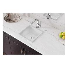 "ELG1616WH0 Quartz Classic 15-3/4"" x 15-3/4"" Dual Mount Bar Sink, White"