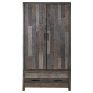London Reclaimed Pine 2-Door Wardrobe