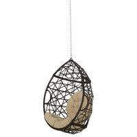 Oldham Wicker Hanging Chair, Tan/Multi-Brown