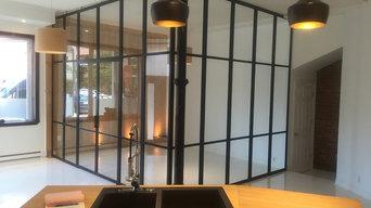 All Glass Walls & Doors in in Aluminum Frame