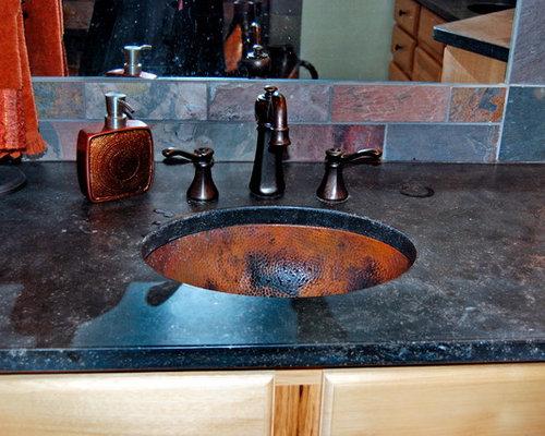 Sinks for Hammered copper undermount bathroom sink