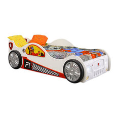 Toddler Car Bed Monza, White