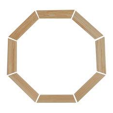 Trim Kit For Wood Vent Octagon Window, Pine