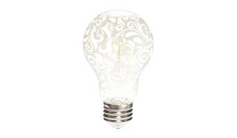 HueVee Designer LED Light Bulbs, White Lace