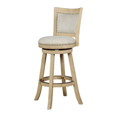 Linon Tyler 30-inch Wood Bar Stool In Natural Beige