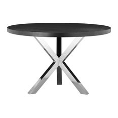 Collin Round Dining Table, Black