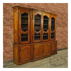 Large Antique French Oak Bookcase, c.1880